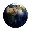 Planet Earth without Clouds and Atmosphere. Africa View Royalty Free Stock Photo