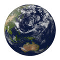 Planet earth with clouds australia and part of as d render elements this image furnished by nasa Stock Photos