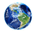 Planet Earth with Clouds Royalty Free Stock Photo