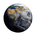 Planet Earth with Cloudscape. Africa View Royalty Free Stock Photo