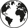 Planet earth europe africa north and south america