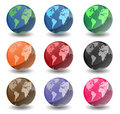 Planet Earth Globes Royalty Free Stock Photography