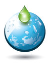 Planet earth green droplet Stock Images