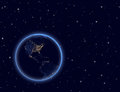 Planet earth on night sky north and south america elements of this image furnished by nasa Stock Images
