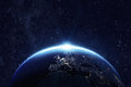 Planet earth at night Royalty Free Stock Photo