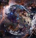 Planet Earth in outer space. Royalty Free Stock Photo