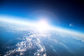 Planet earth photo aerial view Royalty Free Stock Photo
