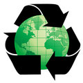 Planet Earth with Recycle Symb Royalty Free Stock Photo