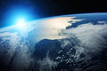 Planet Earth in space 3D rendering elements of this image furnis
