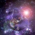 Planet earth space elements image furnished nasa Royalty Free Stock Image