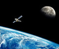 Planet earth in the space. Royalty Free Stock Photo