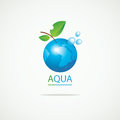Planet Earth in the spray of clean water Royalty Free Stock Photo