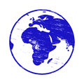 Planet Earth Stamp Royalty Free Stock Photo