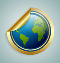 Planet Earth sticker Royalty Free Stock Photo