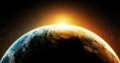 Planet earth sunrise from space Royalty Free Stock Photo