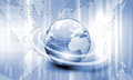Planet earth and technology background Stock Image