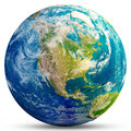 Planet Earth - USA Royalty Free Stock Photo