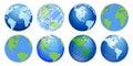 Planet Earth, world globe maps