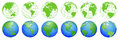 Planet Earth, world globe maps, set of ecology icons
