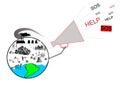 Planet ecology catastrophe