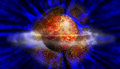 Planet Explosion Abstract Background Royalty Free Stock Photos