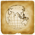 Planet globe earth old vintage paper Royalty Free Stock Image