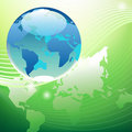 Planet green world concept Royalty Free Stock Images