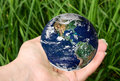 Planet in hand Royalty Free Stock Images