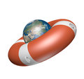 Planet in a life buoy Royalty Free Stock Photo