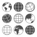 Planet map globe icons Royalty Free Stock Photo