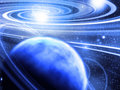 Planet near spiral Royalty Free Stock Photo