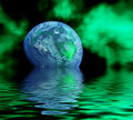 Planet and reflection Royalty Free Stock Images