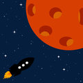 Planet rocket traveling to distant planets by spaceship Royalty Free Stock Photos