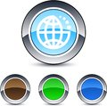 Planet round button. Royalty Free Stock Photo