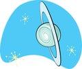 Planeta retro Uranus Imagem de Stock