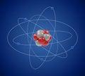 Planetary model of atom Royalty Free Stock Photo