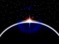 Planeter jordar en kontakt indikerar solsystemet och kosmos Royaltyfri Foto