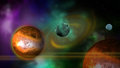 Planets made in d software Stock Photography
