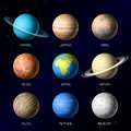 Planets of solar system illustration Stock Photo