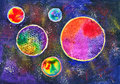 Planets in space Royalty Free Stock Photo