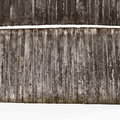 Plank wooden wall in winter Stock Images