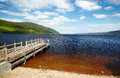 Planked footway on loch ness lake in scotland Stock Images