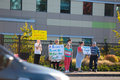 Planned parenthood eugene oregon or october anti abortion protesters target pedestrian and vehicle passersby in front of of Stock Images