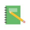 Planner notebook vector illustration.