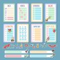 Planner template set
