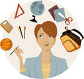 Planning a back to school shopping Royalty Free Stock Photo
