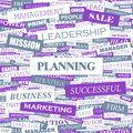Planning concept illustration graphic tag collection wordcloud collage Royalty Free Stock Photos