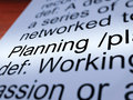 Planning Definition Closeup Showing Organizing Royalty Free Stock Photo