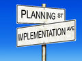 Planning and Implementation Royalty Free Stock Photo