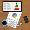 Planning infochart on tablet